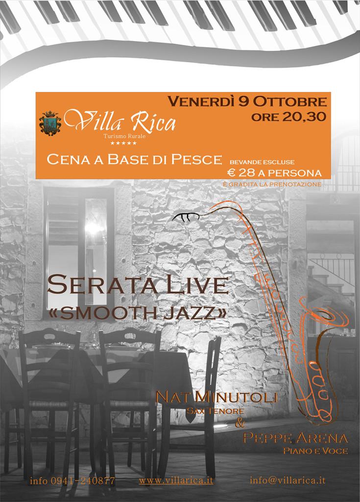 Serata live venerdì 9 ottobre 2015 - cena a base di pesce - live smooth Jazz